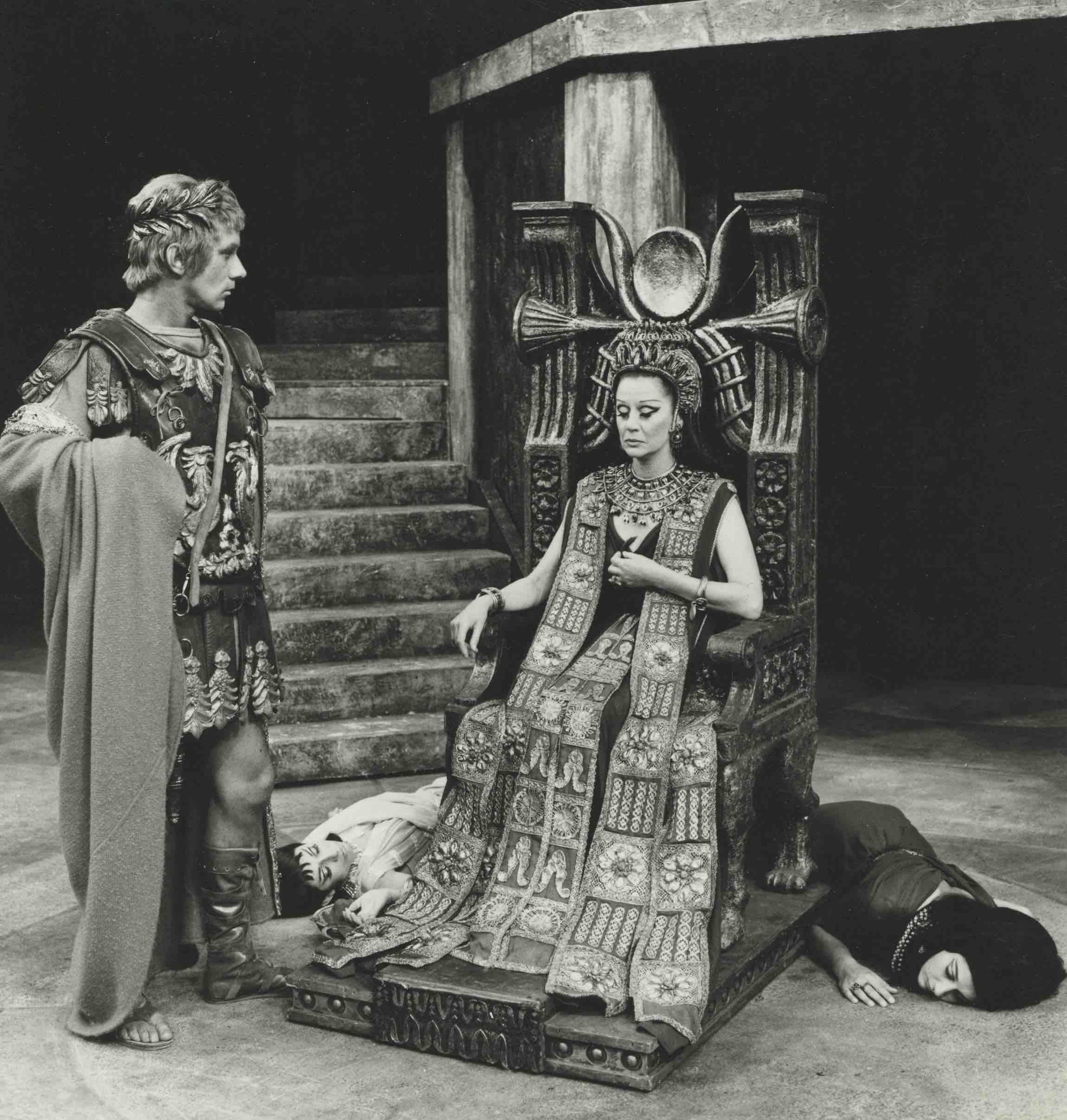 Production photograph - Antony and Cleopatra - Keith Baxter, Margaret Leighton - Photographer John Timbers - WSRO - Dimensions unknown