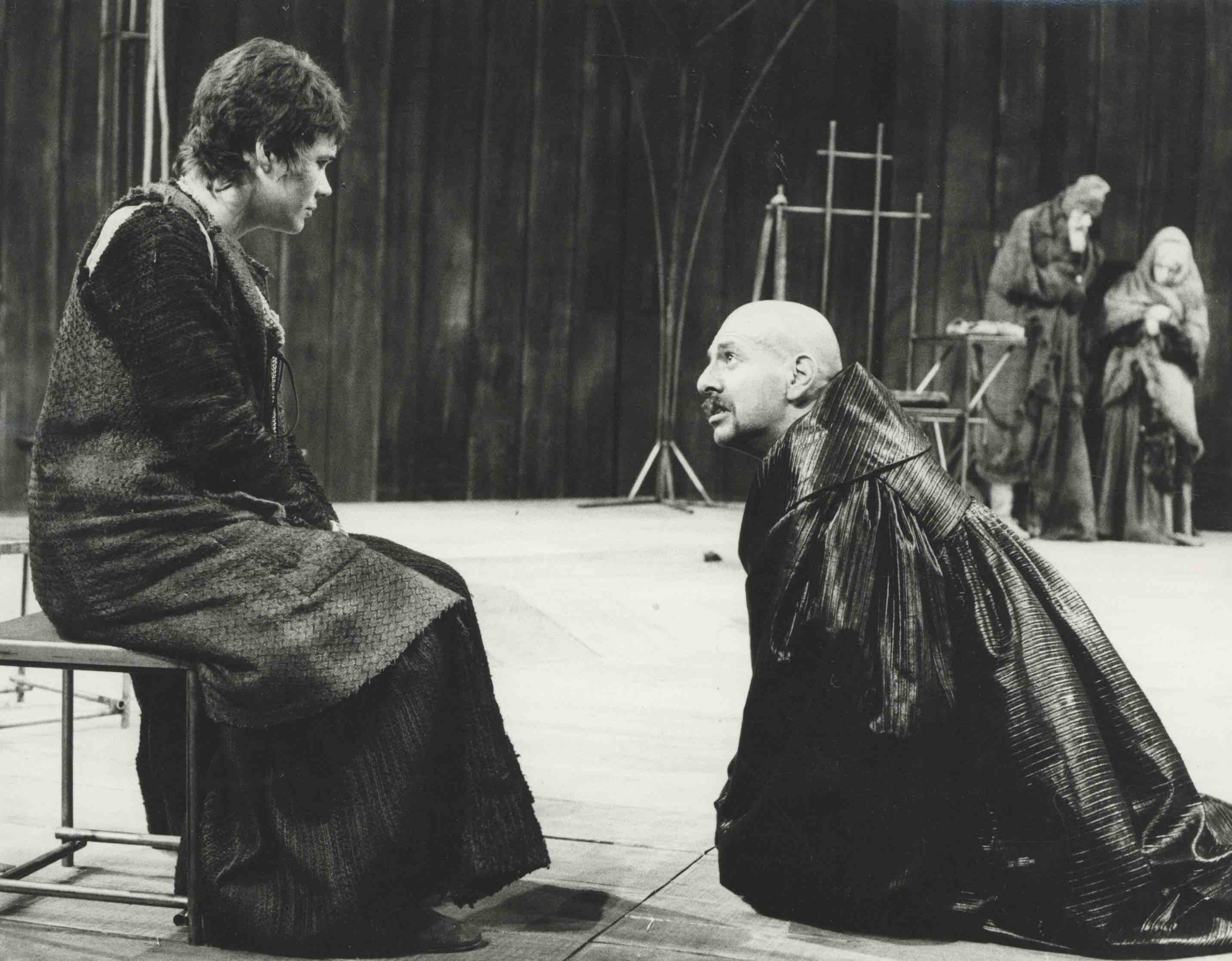 Production photograph - The Caucasian Chalk Circle - Heather Sears, Topol -Photographer John Timbers - 1969 - WSRO - Dimensions unknown