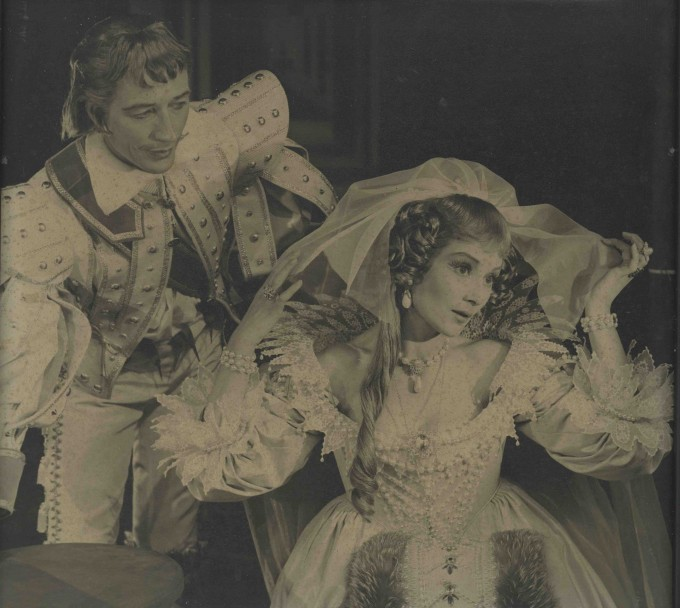 Production photograph - The Chances - John Neville, Rosemary Harris - Photographer Angus McBean - printed on board - H33 W35