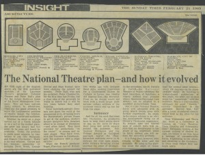 National Theatre plan - different types of stages