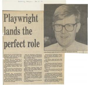 Press cutting - Talking Heads, Alan Bennett - Evening Argus - 24 May 1991 - FE Press cuttings Box 686