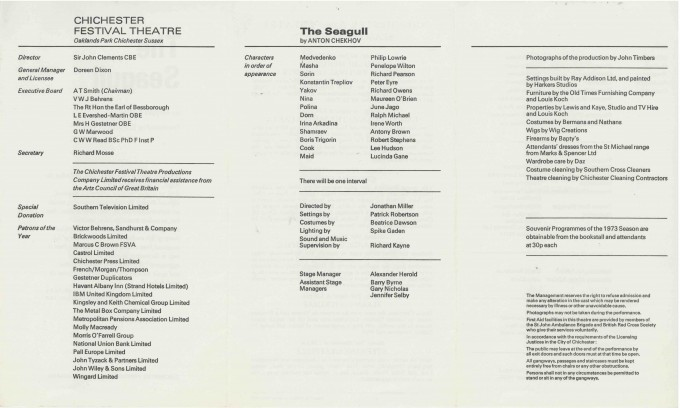 Cast List - The Seagull  - 1973- 2 of 2