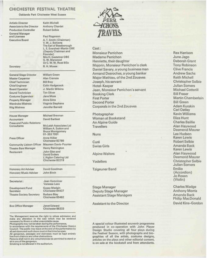 Cast List - Monsieur Perrichon's Travels  - 1976- 2 of 2