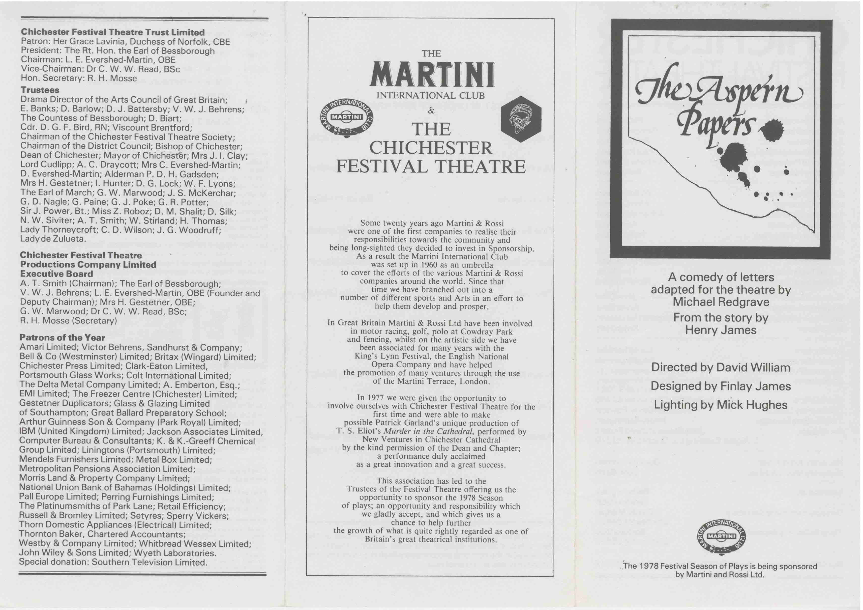 Cast List - The Aspern Papers  - 1978- 1 of 2