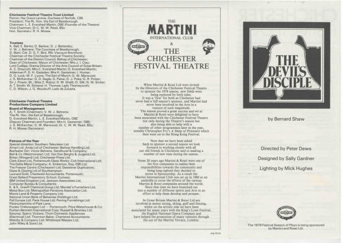 Cast List - The Devil's Disciple  - 1979-  1 of 2