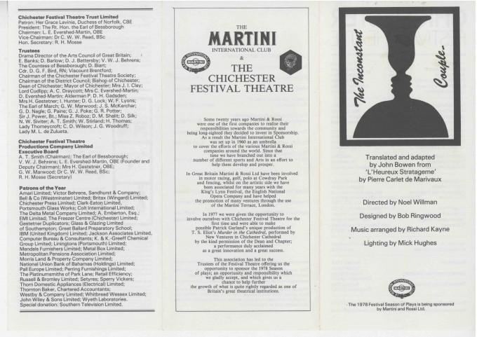 Cast List - The Inconstant Couple  - 1978- 1 of 2