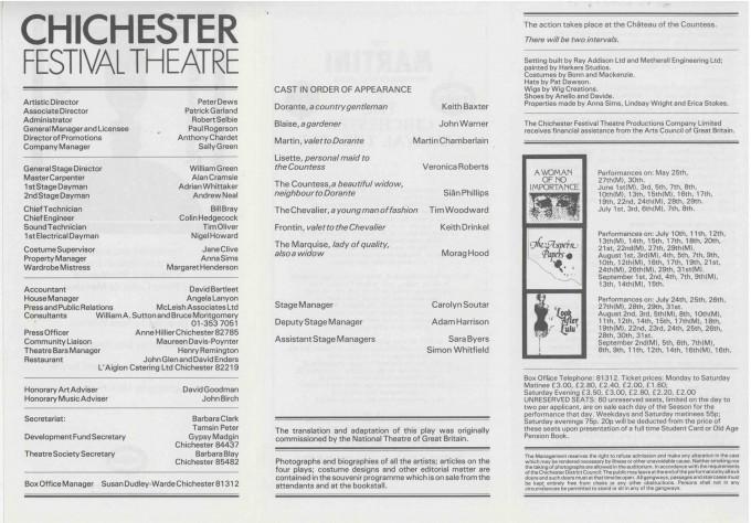 Cast List - The Inconstant Couple  - 1978- 2 of 2
