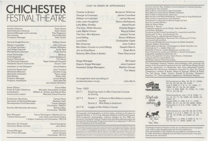Cast List - The Last of Mrs Cheyney - 1980 - 2 of 2