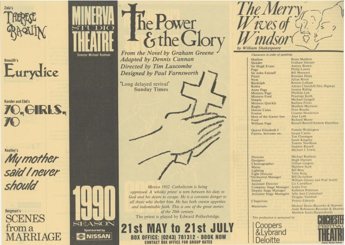 Cast List - The Merry Wives of Windsor - 1990 - 1 of 2