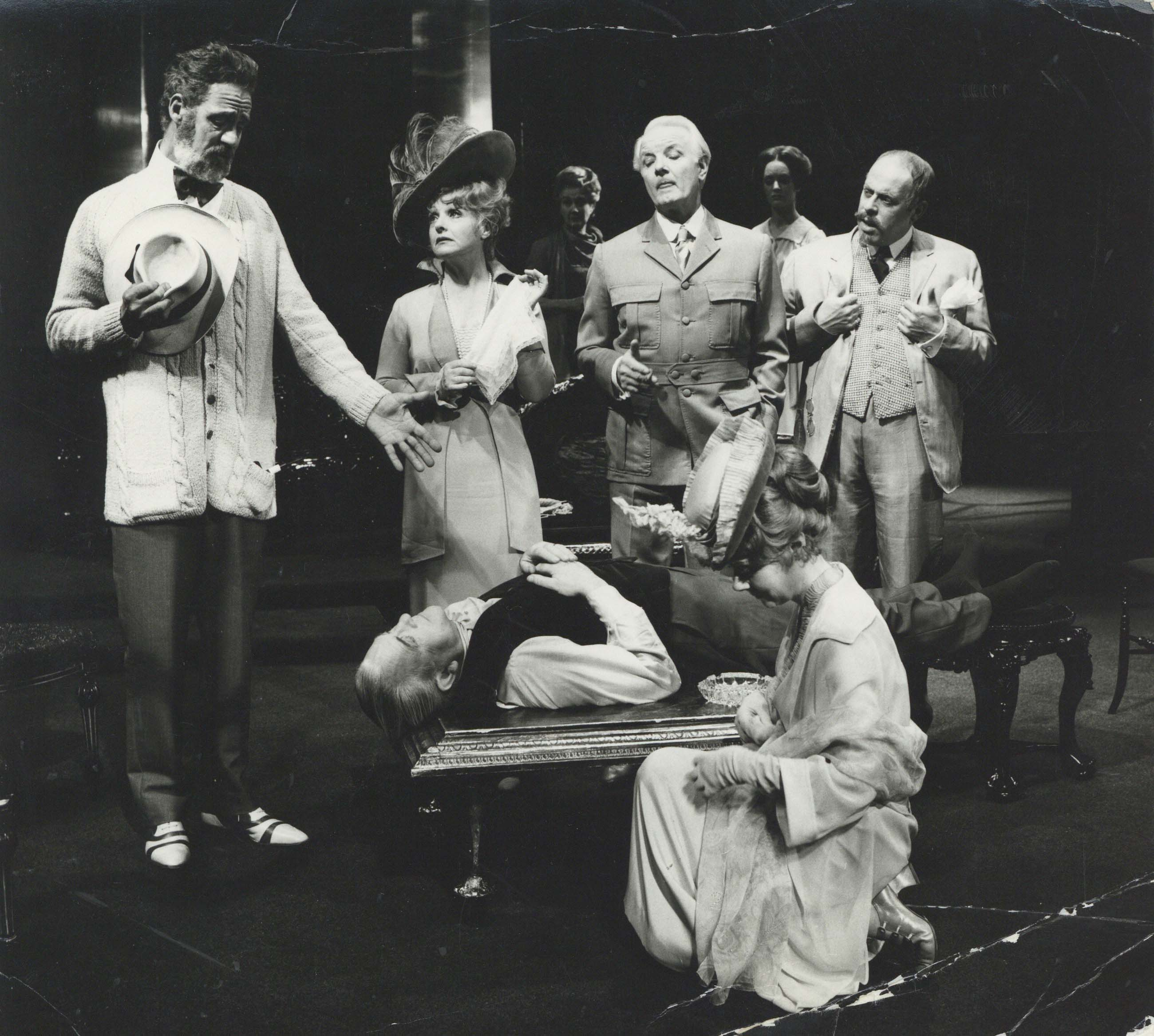 Production Photograph - Dear Antoine -   Michael Aldridge, Joyce Redman, Jane Baxter, Hubert Gregg, Joanna David, Clive Swift, John Clements, Renee Asherson Photographer John Timbers - 1971