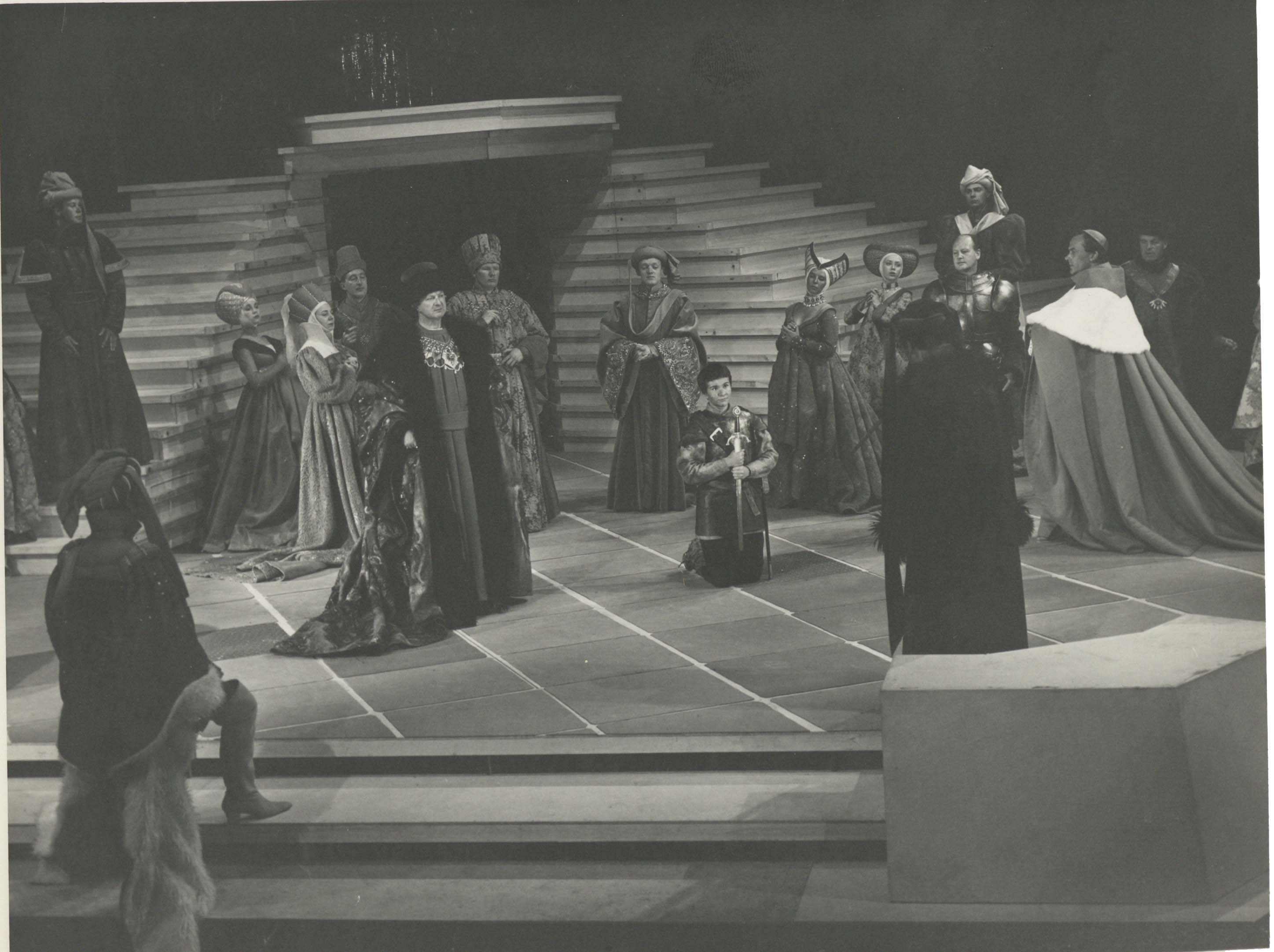 Production photograph - Saint Joan - Joan Plowright - Photographer Angus McBean - 1963 - Size unknown