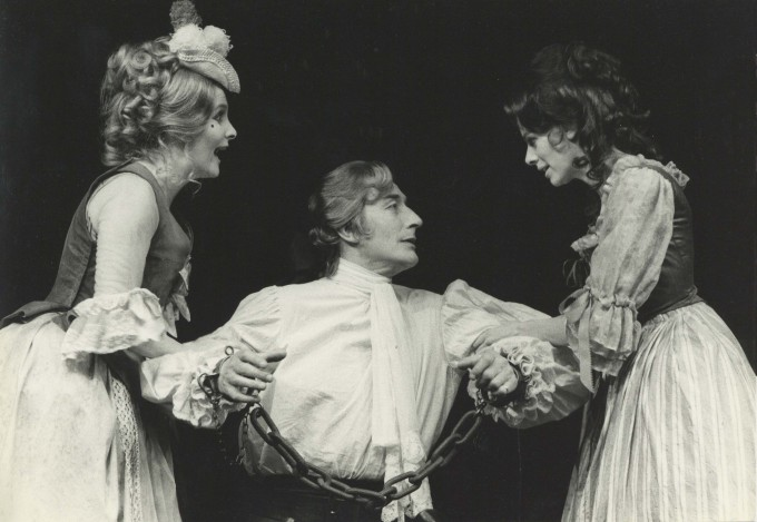 Production photograph - The Beggar's Opera - Millicent Martin, John Neville, Angela Richards - Photographer John Timbers - 1971