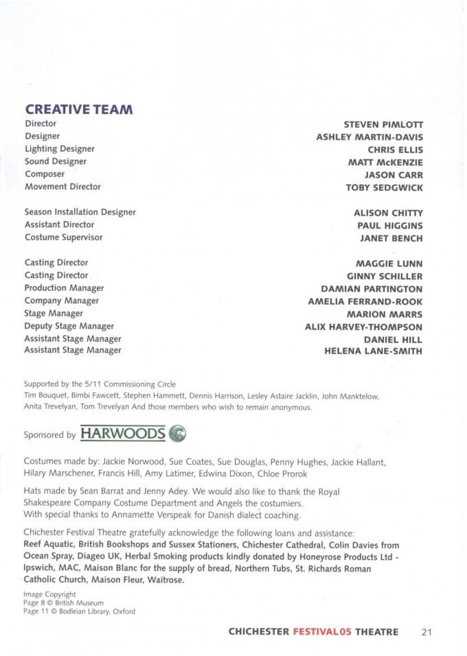 Cast List - 5 11 - 2005 -  2 of 2