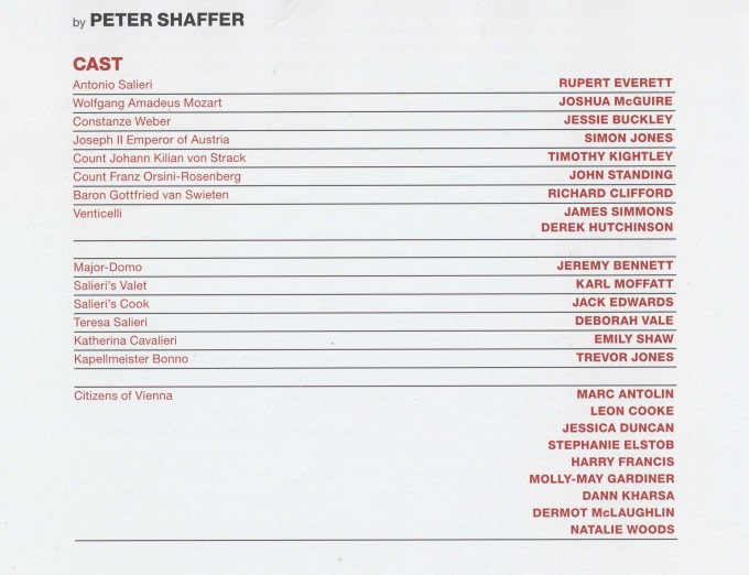 Cast List - Amadeus - 2014 - 1 of 2