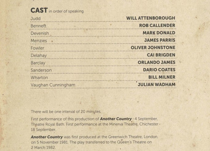 Cast List - Another Country - 2013 - 1 of 2