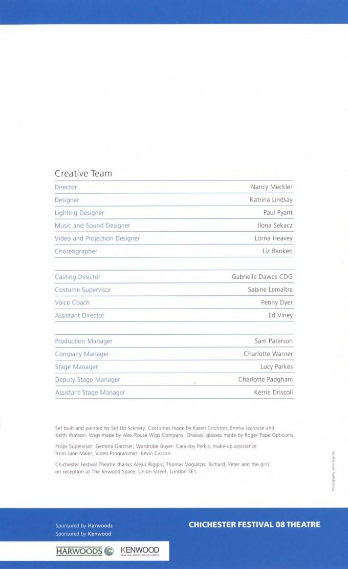 Cast List - Aristo - 2008 - 2 of 2