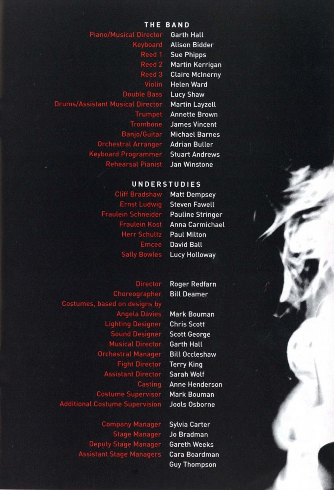 Cast List - Cabaret - 2002 - 2 of 2