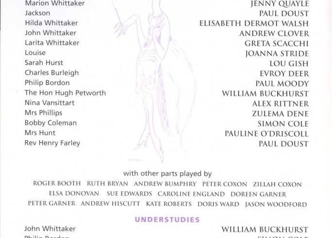 Cast List - Easy Virtue - 1999 - 1 of 2