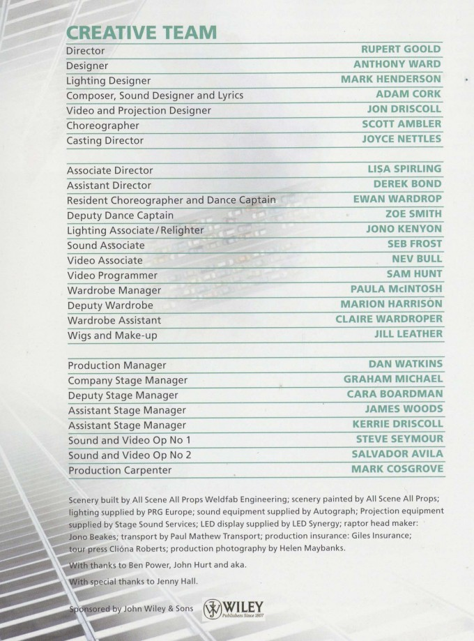 Cast List - Enron - 2010 - 2 of 2