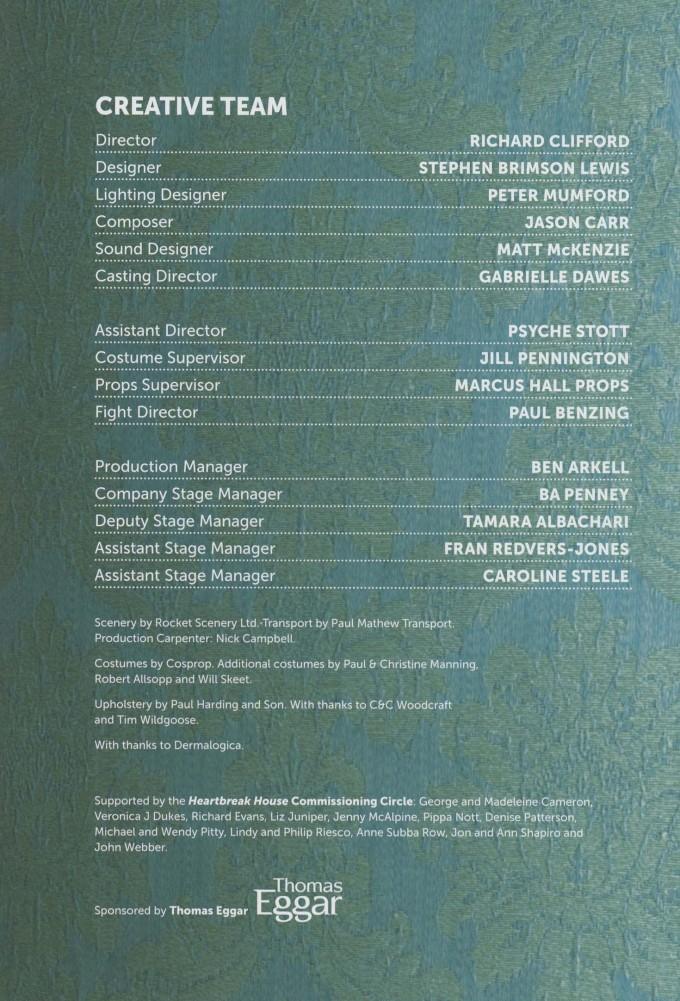 Cast List - Heartbreak House - 2012 - 2 of 2