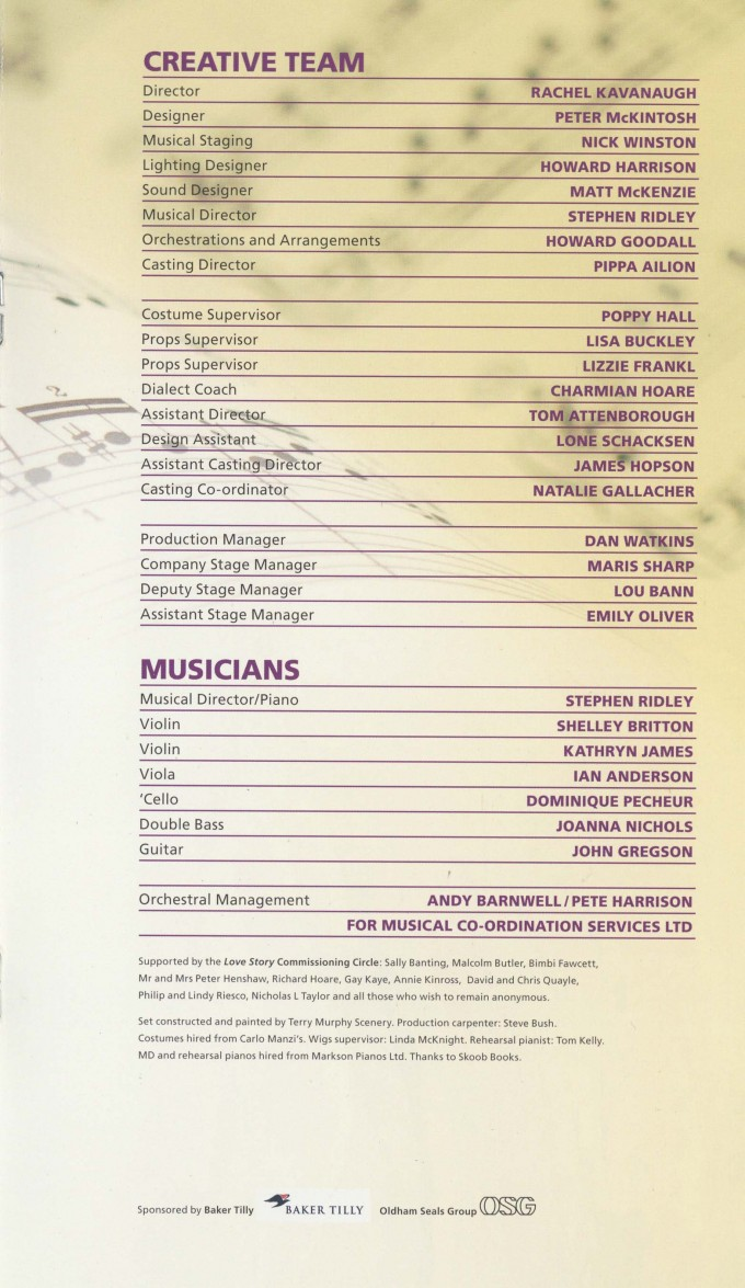 Cast List - Love Story - 2010 - 2 of 2
