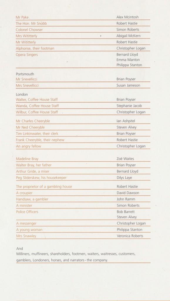 Cast List - Nicholas Nickleby - Parts I & II- 2006 - 3 of 4