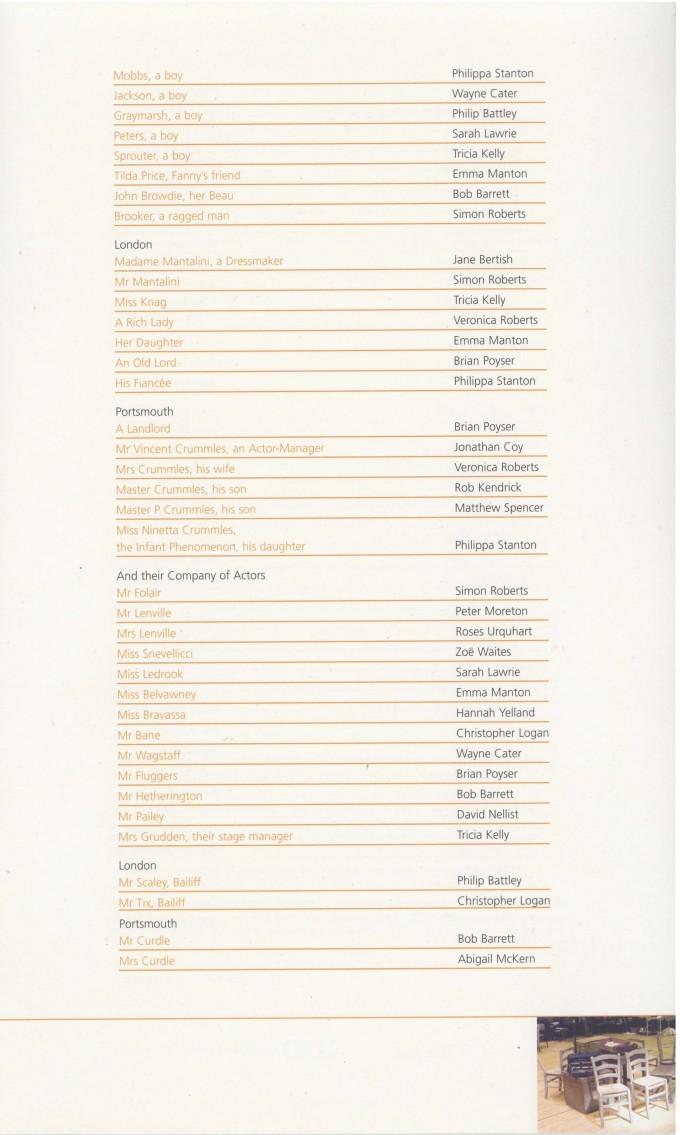 Cast List - Nicholas Nickleby - Parts I & II- 2007- 2 of 4