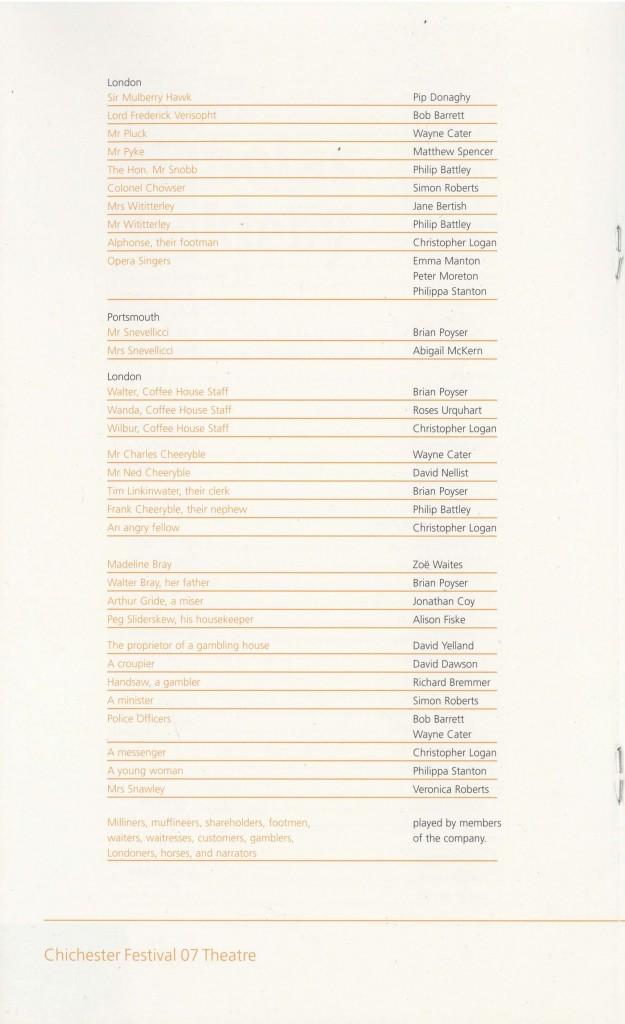 Cast List - Nicholas Nickleby - Parts I & II- 2007 - 3 of 4