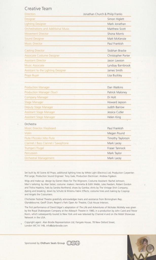 Cast List - Nicholas Nickleby - Parts I & II - 2007- 4 of 4