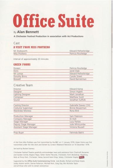 Cast List - Office Suite - 2007