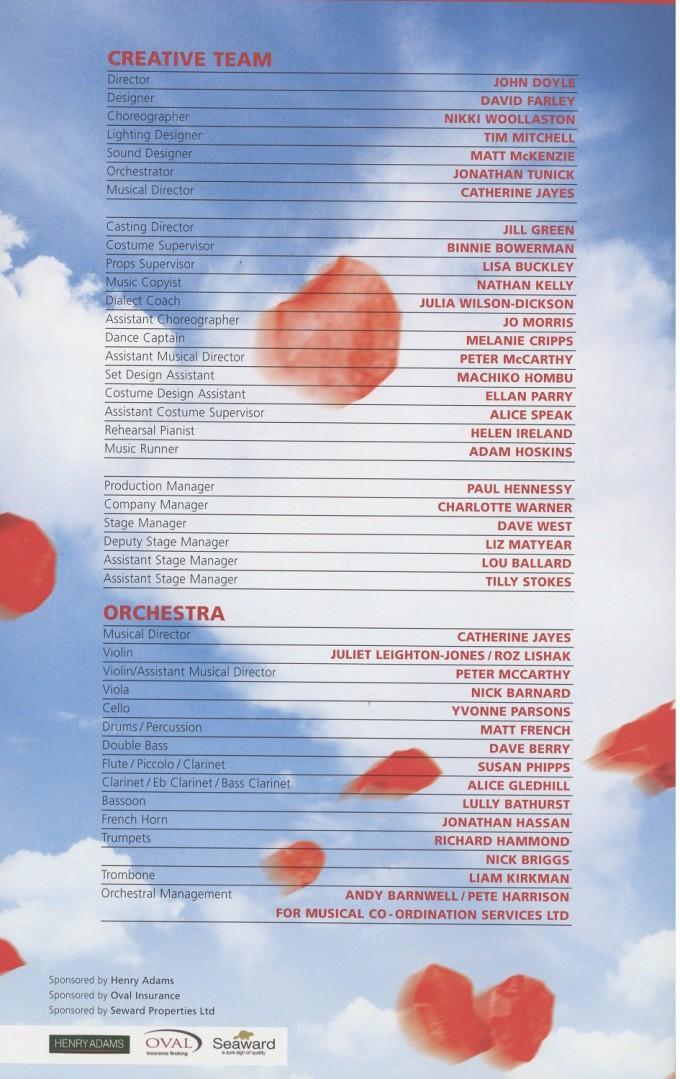 Cast List - Oklahoma! - 2009 - 2 of 2