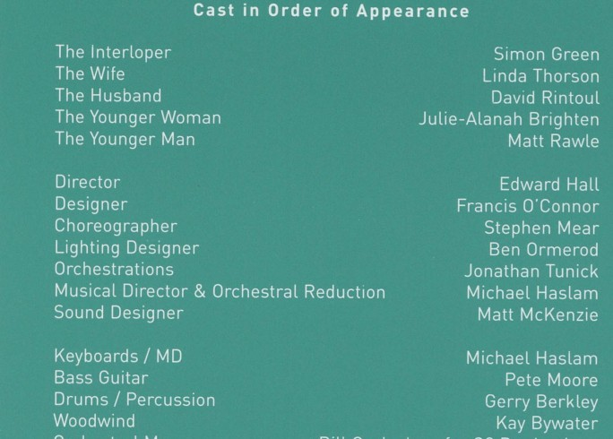 Cast List - Putting it Together - 2001