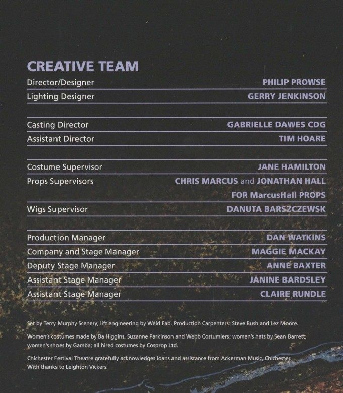 Cast List - Pygmalion - 2010 - 2 of 2