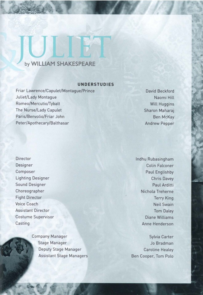 Cast List - Romeo and Juliet - 2002 - 2 of 2