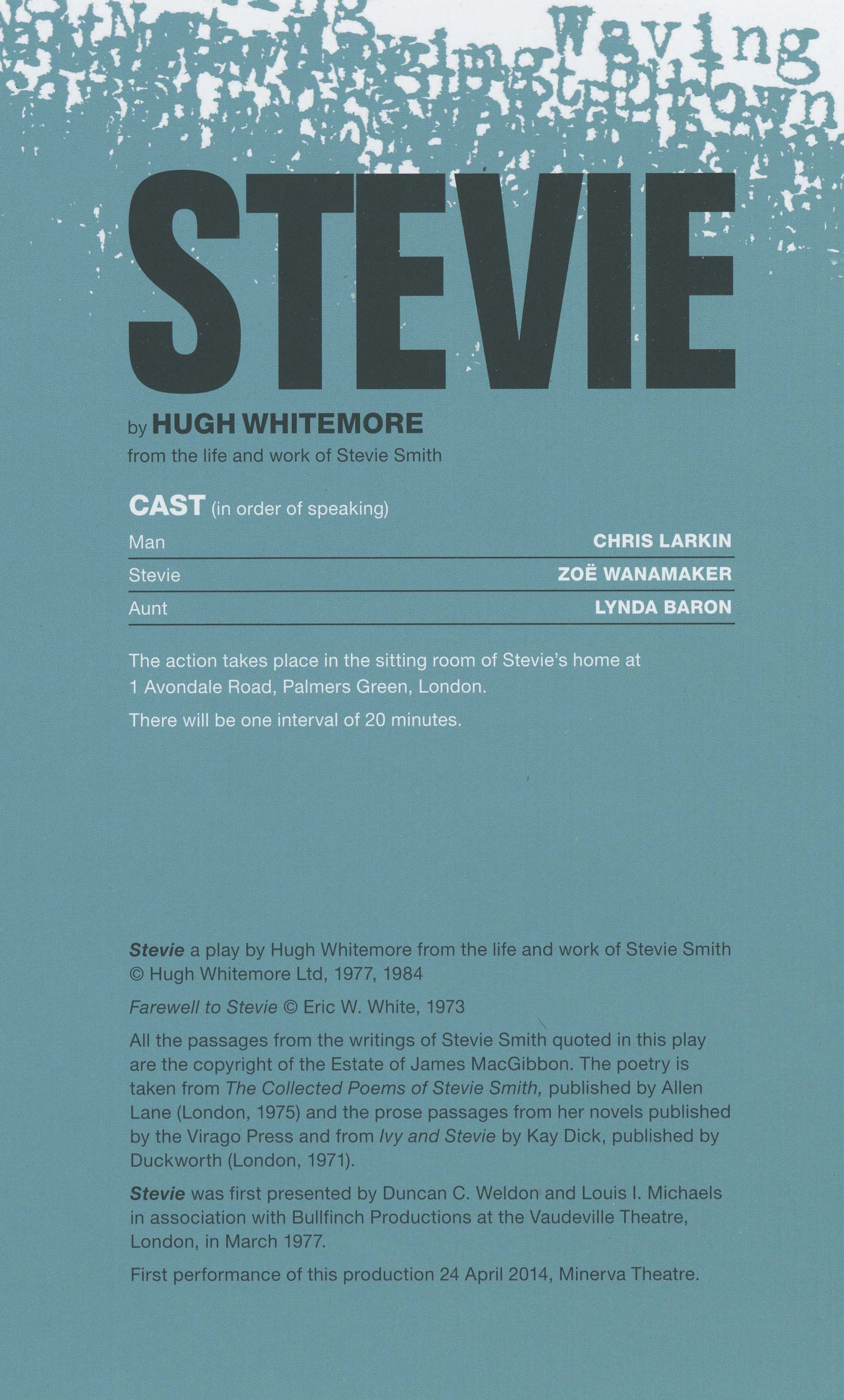 Cast List - Stevie - 2014 - 1 of 2
