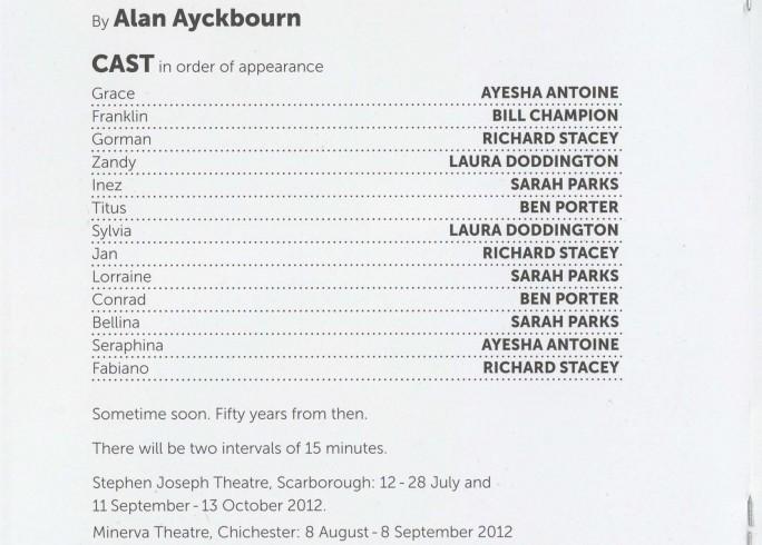Cast List - Surprises, Absurd Person Singular - 2012 - 1 of 2