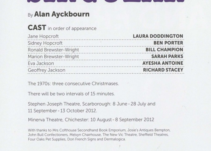 Cast List - Surprises, Absurd Person Singular - 2012 - 2 of 2