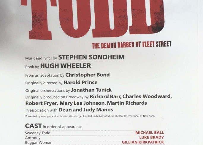 Cast List - Sweeny Todd - 2011 - 1 of 2