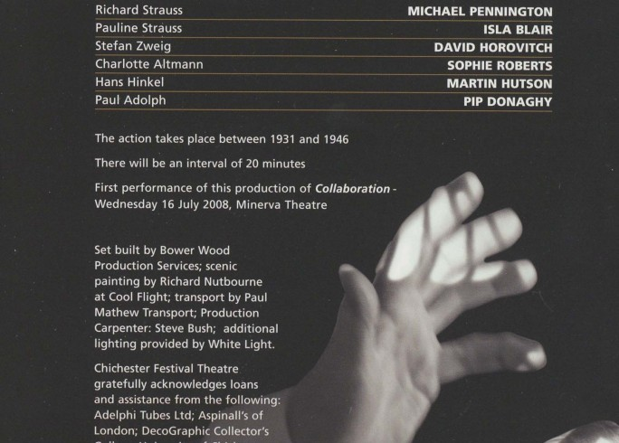 Cast List - Taking Sides and Collaboration - 2009 - 2 of 2