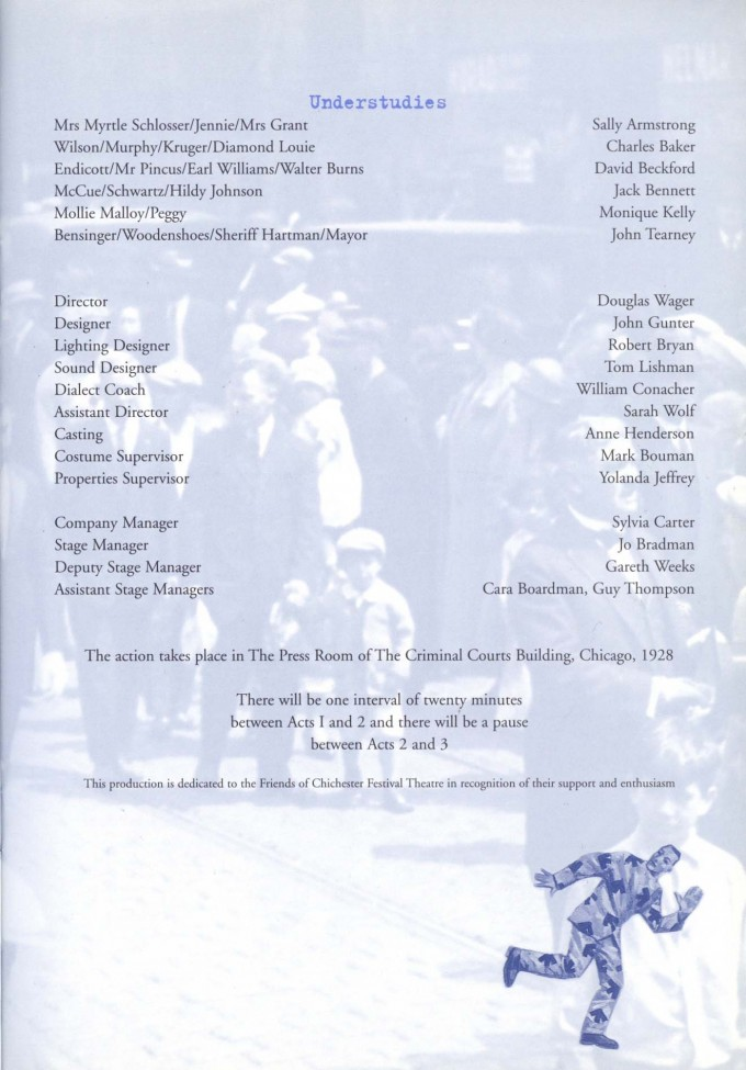Cast List - The Front Page - 2002 - 2 of 2