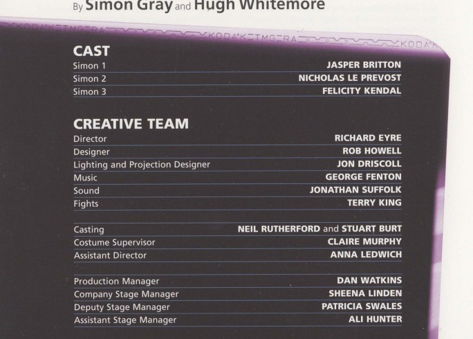 Cast List - The Last Cigarette - 2009 -