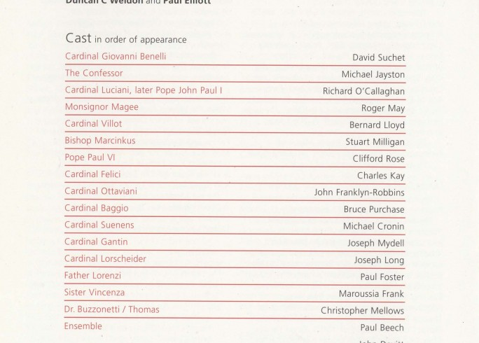 Cast List - The Last Confession - 2007 - 1 0f 2