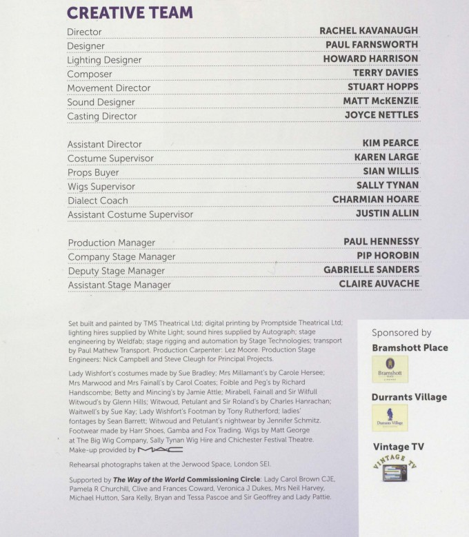 Cast List - The Way of the world - 2012- 2 of 2