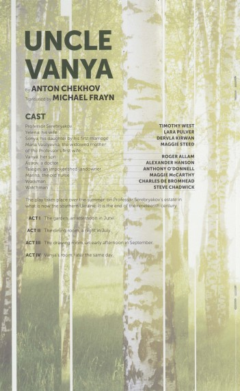 Cast List - Uncle Vanya - 2012 - 1 of 2