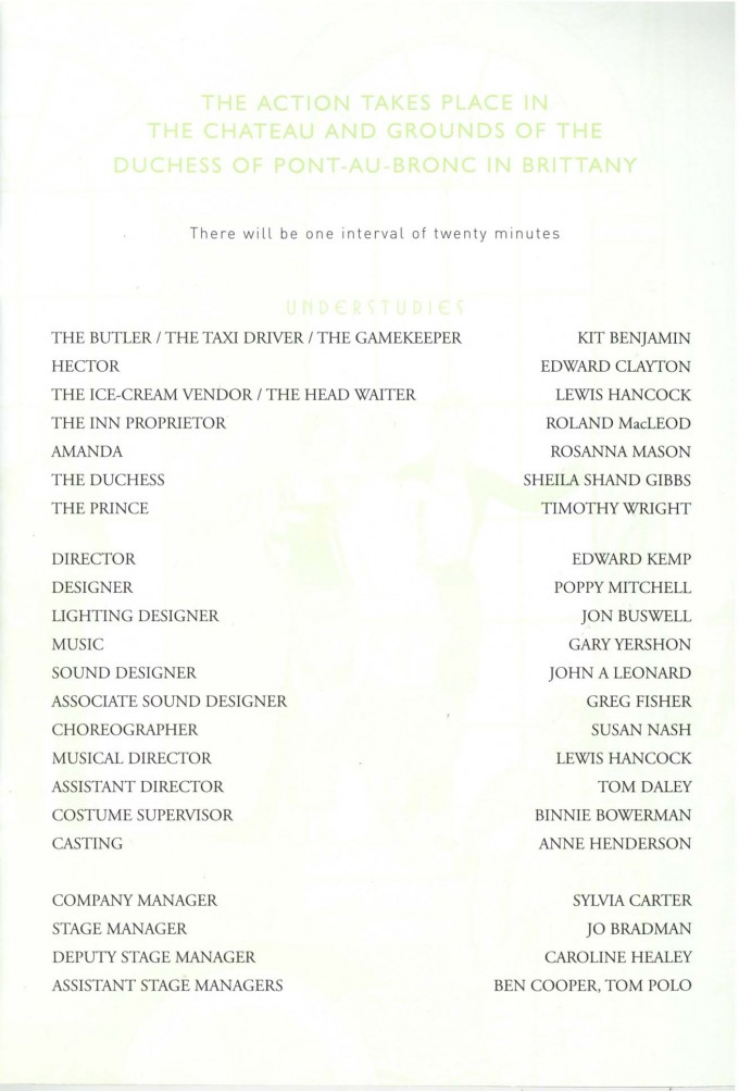 Cast List - Wild Orchids - 2002 - 2 of 2