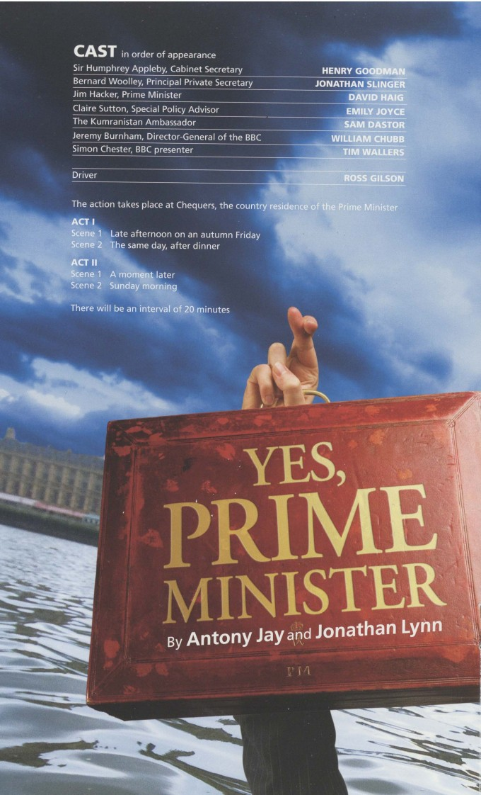 Cast List - Yes, Prime Minister - 2010 - 1 of 2
