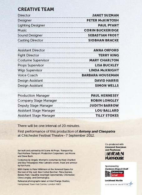 Cast list - Antony and Cleopatra - 2012 - 2 of 2