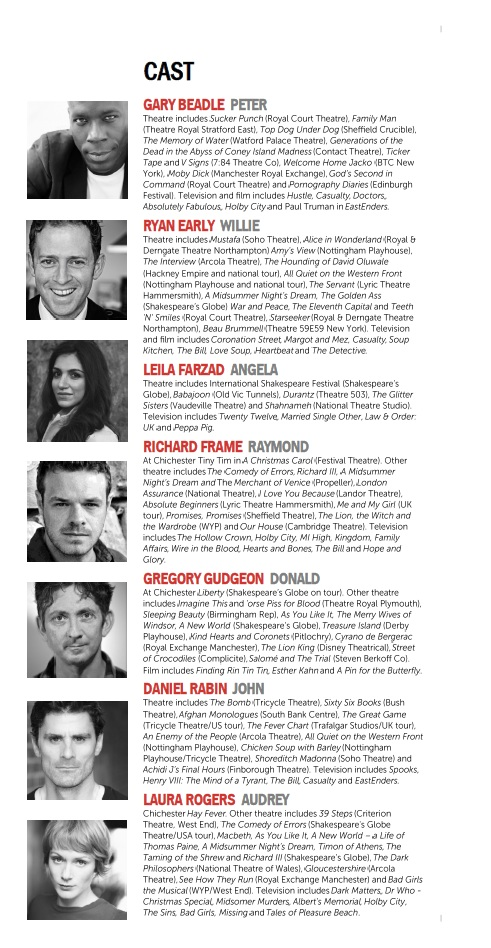 Cast list - Blue Remembered Hills - 2012 - 1 of 2