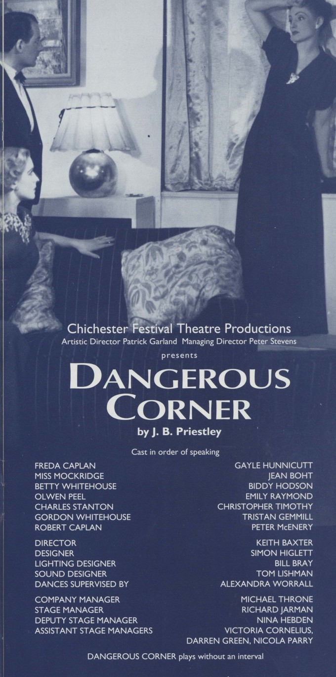 Cast list - Dangerous Corner - 1994