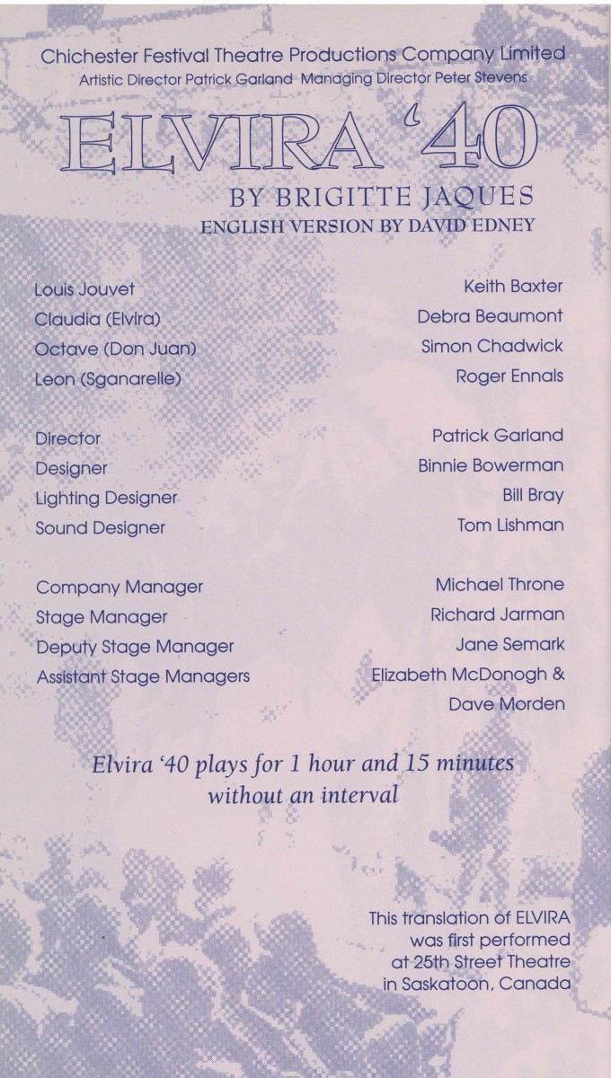 Cast list - Elvira 40 - 1993